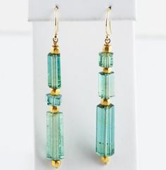 COLOR!  just gorgeous.  Tourmaline Drop Earrings | Pave Fine Jewelry Design