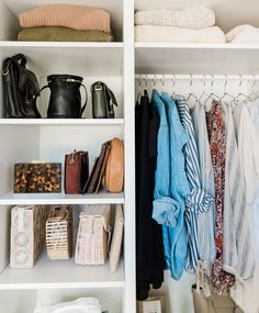 After completing Shira Gill's closet makeover program, I've built a custom walk in closet and office space. Click through for the full tour of the closet makeover reveal! Home Organisation, Closet Organization, Organizing Life, Organization Ideas, Storage Ideas, Decoration Inspiration, Room Inspiration, Hippie Style Rooms, Hippy Room