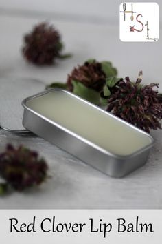 Protect and soothe the lips with this DIY red clover lip balm that eases pain, calms inflammation, reduces redness, and softens skin. Homemade Lip Balm, Diy Lip Balm, Homemade Skin Care, Diy Skin Care, Homemade Beauty, Diy Beauty, Homemade Products, Beauty Care, Beauty Tips