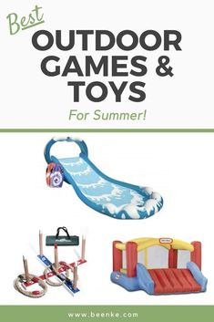 The best outdoor summer toys for kids! We'll share our favorite summertime products to keep kids cool and entertained. Plus, we share some super fun games (cheap or totally free) that will get kids outside and out of your hair. Fun activities for them, a moment of peace for you. See article to learn more. #beenke #kidsactivities #summer #toys Summer Games, Summer Activities For Kids, Fun Activities, Fun Games, Fun Outdoor Games, Outdoor Gifts, Toys For Boys, Kids Toys, Kids Gadgets