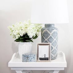 ~ Beautiful side table styling ideas to inspire ~ We always offer plenty of inspiration instore and online room styling hamptons Hamptons Style Furniture Decor, Table Style, Hamptons Bedroom, Bedside Table Decor, House Styles, Home Decor, Side Table Styling, Bedroom Decor, Hamptons Style Decor