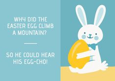 Customize the Funny Easter Bunny Egg-Cho Funny Card template and make it match your brand!