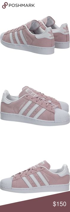 Adidas superstar blush pink and white sneakers BRand new in box Adidas Shoes Sneakers