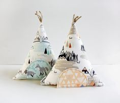 Tooth Fairy Teepee Toy Pillow Kids Pillow Boys Girls by AppleWhite, $24.00