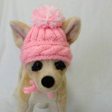 Pet Clothes Hand-Knit Dog Hat for Small Dogs XS Size