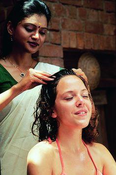 Ayurvedische hoofdmassage #Aveda #haarproducten tegen #haaruitval