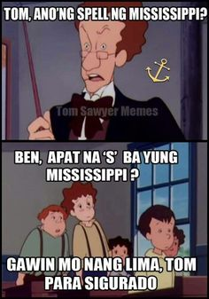 When in doubt Memes Pinoy, Tagalog Quotes, Cartoon Quotes, Jokes Quotes, Filipino Funny, Funny Jokes, Hilarious, Saving Quotes, 90s Kids