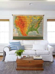 Maps, Atlases & Globes Antiques Dependable Antique Wood Wall Mount Map Holder W/ 6 Old Highly Detailed A J Nystrom Maps