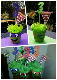 Ninja Turtles Party Set para 8 ni/ños 52 piezas para la fiesta de cumplea/ños infantil para los fan/áticos de las tortugas