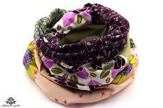 Tuch Loop Schal Loopschal bunt: rosa, grau, grün aus der Lieblingsmanufaktur - farbenfrohe Unikate für Deinen Hals :)