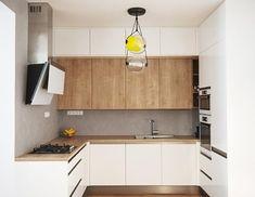 Realizace#kuchyně#interier#design#na míru#lak lesk#bílá#dub#zafrézovaný úchyt#trouba ve výšce#nerez#Brokis#Capsula#Lampe#Gras#Elica#beton#stěrka#100%#kuchynskyporadce