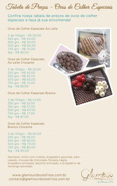 Tabela Ovos de Colher Especial 2016