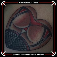 Traditional Booty in heart tattoo.  Designed and Tattooed by: Tadeja Dragon Tattoo How To Draw Steps, Tattoo Portfolio, First Tattoo, Color Tattoo, Dragon, Booty, Traditional, Tattoos, Heart