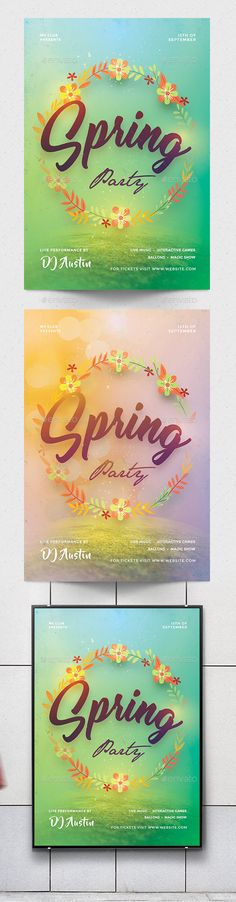 #Spring #Party #Flyer - Clubs & Parties Events Download here: https://graphicriver.net/item/spring-party-flyer/19626797?ref=alena994