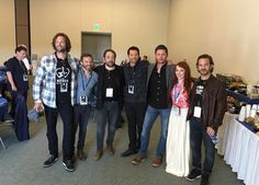 Supernatural: Jared Padalecki, Rob Benedict, Mark Sheppard, Misha Collins, Jensen Ackles, Ruth Connell, and Richard Speight Jr. at San Diego Comic Con 2016 (SDCC) (photo via Supernatural's Instagram)
