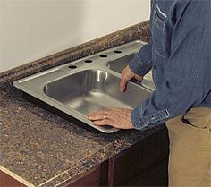 Cut a Laminate Countertop for a Sink - Fine Homebuilding Formica Countertops, How To Install Countertops, Home Repair, Kitchen Layout, Building A House, Buildings, Sink, Construction, Ideas