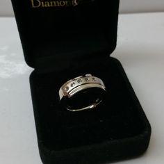 Ring 925 Silber mit 5 klaren Kristallsteinen SR642 von Schmuckbaron