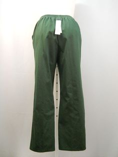 Alfred Dunner Hunter Green Medium Proportioned Elastic Back Casual Pants Size 14 #AlfredDunner #CasualPants