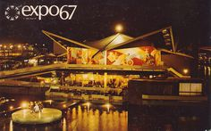 Unused Postcard Pavilion of Trinidad and Tobago and Grenada Expo 67 Montreal Expo 67 Montreal, Montreal Quebec, Canada Eh, St Pierre And Miquelon, World's Fair, Photos, Pictures, Central America, Granada