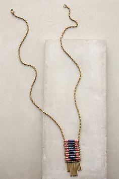 "Kite Song Pendant Necklace #anthropologie $78.00. Brass, plastic, lapis lazuli. Lobster clasp. 32""L. 3"" pendant."