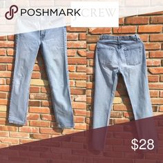 JCREW Jeans.    J8 J.CREW jeans lightly used. Measurements are taken while jeans are lying flat and unstretched: Measurements found in photo.              Please FOLLOW ME and check out the other items in my closet.  Bundle and Combine with any of my items and save on Postage. Thanks for looking! J. Crew Jeans Straight Leg