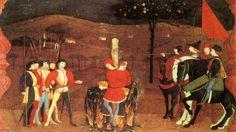 'Miracle de l hostie Desecrated (Scène 5)', panneau de Paolo Uccello (1397-1475, Italy)