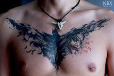 Gripping Batman and Joker Tattoo