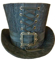 Blue laced top hat