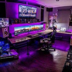 Best Gaming Setup, Gaming Room Setup, Pc Setup, Gamer Setup, Computer Gaming Room, Computer Desk Setup, Gaming Rooms, Computer Diy, Video Game Rooms