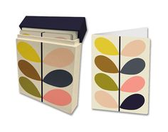 Orla Kiely Multi Stem 12 Count Boxed Note Cards, Floral