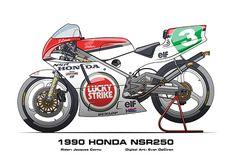 MotoART - Honda NSR250 1985 - 2009 on Behance Sportbikes, Road Racing, Le Mans, Grand Prix, Badass, Honda, Motorcycles, Behance, Motorbikes