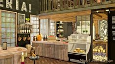 Sims 4 Jacob's Bakery & Pizzeria 麵包店與比薩屋 - Ruby's Home Design The Sims 4 Lots, Sims Freeplay Houses, Liquor Cabinet, Bakery, House Design, Kitchen, Room, Maxis, Cucina