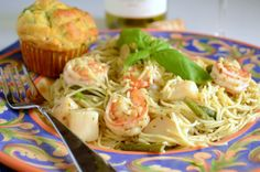 Shrimp & Scallops Pesto Pasta