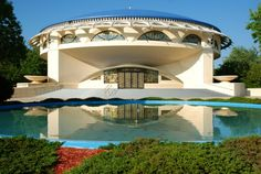 Here is a photo of Frank Lloyd Wright's Annunciation Greek Orthodox Church in Wauwatosa, WI, just outside of Milwaukee.