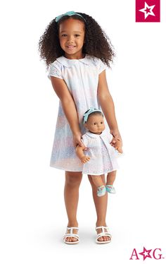 Sunny Flowers Outfit for Little Girls & Bitty Baby™ Dolls. Your little girl and her Bitty Baby doll can be a perfect match for summer parties!