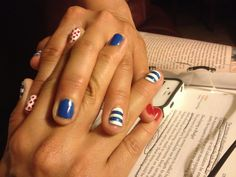 Mom's Fourth of July nails!
