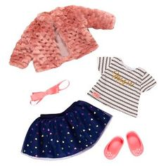 Our Generation® Deluxe Outfit - Shimmer and Shine™ Cosas American Girl, American Girl Doll Sets, American Doll Clothes, Ag Doll Clothes, Our Generation Doll Accessories, Our Generation Doll Clothes, Poupées Our Generation, American Girl Accessories, Baby Doll Accessories