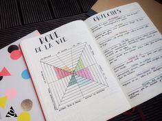 Définir ses objectifs dans mon bullet journal grâce à la roue de la vie : Objectif level 10 life pour 2018