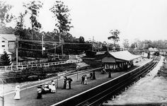 Wahroonga Railway Station in Sydney's Upper North Shore (year unknown).