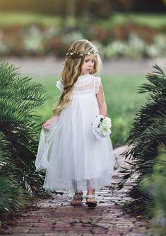 Amanda Dress White White Flower Girl Dresses, Lovely Dresses, White Dress, Toddler Girl Dresses, Boutique Dresses, Amanda, Special Occasion, Chiffon, Wedding Dresses