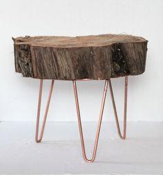 Natural wood table. By Diamantina & La Perla. www.facebook.com/diamantinaylaperla