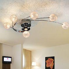 Kunstneriske+Flush+Mount+lamper+i+aluminium+med+6+lys+–+NOK+kr.+1.077