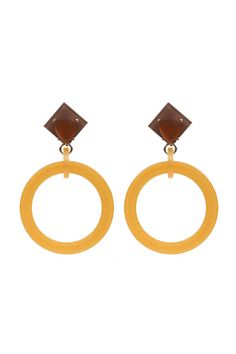 ORECCHINI CREOLA 2 CRYSTAL 2 Earring made of cellulose acetate with opaque crystals. Metal parts nickel free.