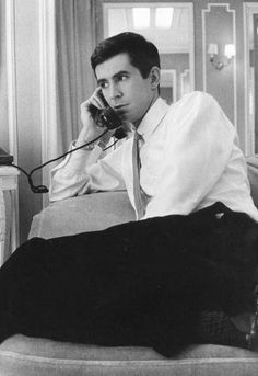 Anthony Perkins talking on telephone, photo by Giancarlo Botti, circa 1960s Aesthetic, Tab Hunter, Norman Bates, Anthony Perkins, Star Wars, Big Crush, Old Hollywood, Classic Hollywood, Muscular Men