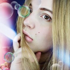 Laura Hohmann Bubbles Pretty Actress Model Lips blonde