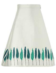 Pale Green Flared Tree Skirt | Vika Gazinskaya | Avenue32