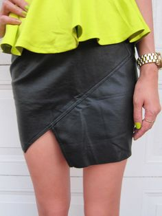 SKIRT: http://www.glamzelle.com/collections/whats-glam-new-arrivals/products/angled-leather-skirt