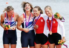 Rowing women's double sculls – Gold: Great Britain (Anna Watkins, left, and Katherine Grainger)  Bronze: Poland (Julia Michalska, right, and Magdalena Fularczyk)