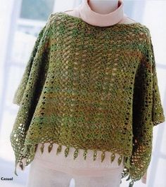 poncho vert. Extensive graphing. LOVE