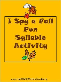 """I added """"LMN Tree: Teaching Syllables with an """"I Spy"""" Game and a Hat"""" to an #inlinkz linkup!http://arlenesandberg.blogspot.com/2013/09/teaching-syllables-with-i-spy-game-and.html"""